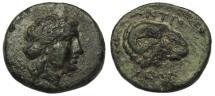 Ancient Coins - Troas, Kebren AE21  Ram's Head