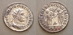 Ancient Coins - Diocletian  Silvered AE Antoninianus, AD 284-305