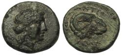 Ancient Coins - Troas, Kebren AE21  Ram's Head