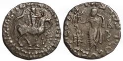 Ancient Coins - Indo-Scythian AR Tetradrachm : Azes II