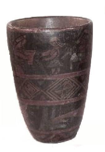 Ancient Coins - Inca Wooden Kero, AD 1550-1650