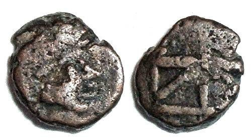 "Ancient Coins - Zeno monogram : Scarcer ""box"" Style"