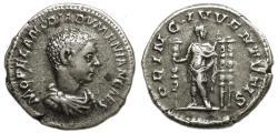 Ancient Coins - Diadumenian AR Denarius : PRINC IVVENTVTIS