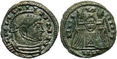 Ancient Coins - Barbarous imitation, Constantine I  AE follis. VICTORIAE LAETAE PRINC PERP type.