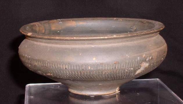 Ancient Coins - Roman Black Slipware Bowl, 2nd - 3rd Century AD