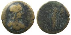 Ancient Coins - Annia Faustina : Hierapolis Phrygia Ae : Tyche Reverse : Rare Type