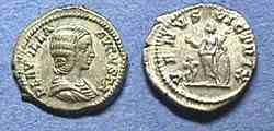 Ancient Coins - Plautilla wife of Caracalla Silver Denarius