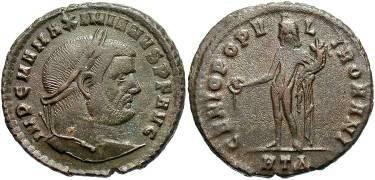 Ancient Coins - MAXIMIANUS. AD 285-310, AE follis.