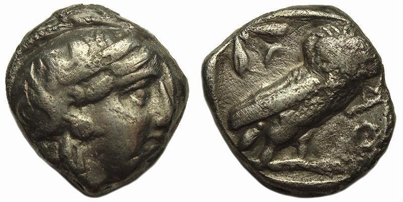 Ancient Coins - Attica Athens Owl AR Tetradrachm 454-449 BC