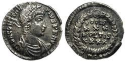 Ancient Coins - Constantius II AR Siliqua : VOTIS XXX MVLTIS XXXX : Arles Mint