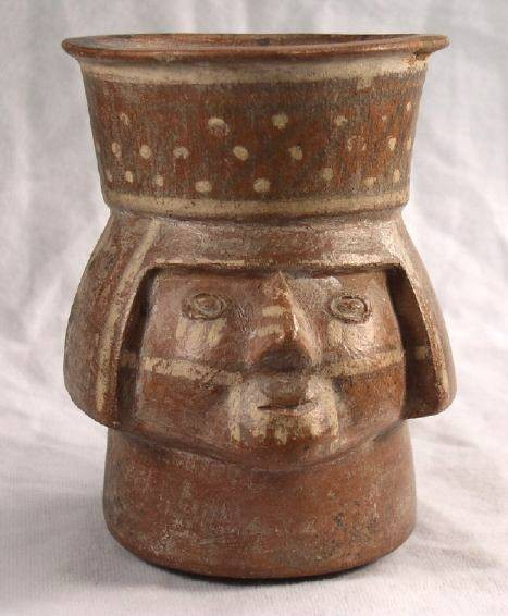 Ancient Coins - Face Cup, Late Chimu AD 1300-1500