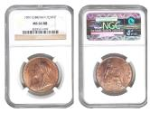 """World Coins - Great Britian 1901 Penny NGC-64RB """"one year type"""""""