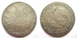 World Coins - Mexico, Zacatecas 4 Reales 1860/59-MO