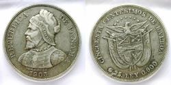 "World Coins - Panama 1905 Centisimos ICG-35 ""scarce date"""