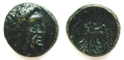 Ancient Coins - Seleukeia Piereia, Syria AE23.  312-280 BC.  19mm  6.3 grams.  Zeus right/Winged Thunderbolt