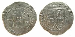 """World Coins - Mexico, Mexico City 2 Reales  """"Charles-Joanna Late Series 1542-1555"""""""