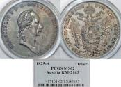 World Coins - Austria 1825-A PCGS-62, Vienna Mint