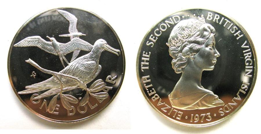 World Coins - BRITISH VIRGIN ISLANDS  1973 Proof Dollar
