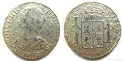 """World Coins - MEXICO 1783-FF 8 Reales  """"Recovered from the El Cazador"""""""