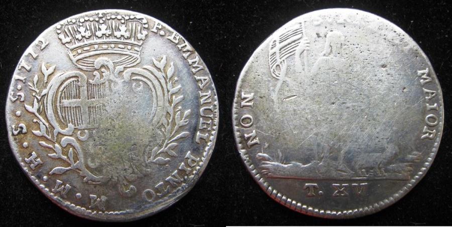World Coins - MALTA  1772  15 Tari