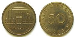 World Coins - Saarland 1954 50 Franken