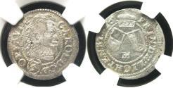World Coins - Austrian State: Troppau-Jaegendorf 3 Krajcar, 1616, NGC-62, Mintage Unknown