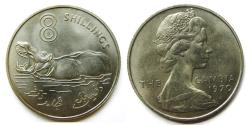 "World Coins - GAMBIA 1970 8 Shillings   KM-7  ""one year type"""