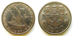 World Coins - Portugal 1967 5 Escudos