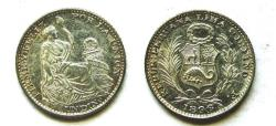 World Coins - Peru 1896 Dinero