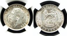 "World Coins - Great Britain 1920 Sixpence NGC-62 ""Narrow Rim"""