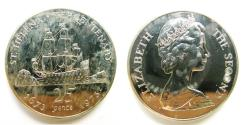 """World Coins - St. Helena 1973 Proof 25 Pence """"Mintage: 10,000"""""""