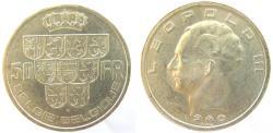 World Coins - Belgium 1940 50 Francs