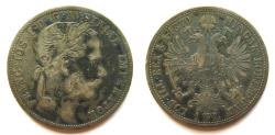 Ancient Coins - AUSTRO-HUNGARIAN Empire:  1870-A Florin
