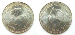 "World Coins - Netherlands 1970 10 Gulden ""one year type"""