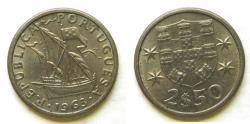 World Coins - Portugal 1963 2-1/2 Escudos