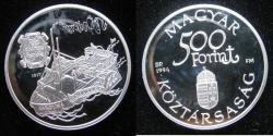 World Coins - Hungary 1994-BP  500 Proof Forint   KM-708  Low Mintage: 15,000
