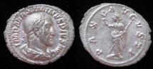 Ancient Coins - MAXIMINUS I 'Thrax'. A.D. 235-238. AR Denarius.  Rx. PAX standing facing head left.