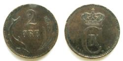World Coins - Denmark 1881 2 Ore