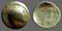 Ancient Coins - Celtic imitative AR20 drachm of Alexander the Great.  Zeus enthroned holding eagle