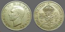 Great Britain, George VI 28.5mm (2) Schillings 1948