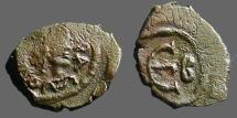 Ancient Coins - Justinian I AE Pentanummium.  Constantinople  E w. 'B' Officiana.