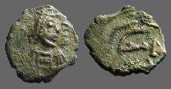 Ancient Coins - Justin I AE14 Pentanummium, E w. pellets. SB#73