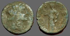 Ancient Coins - Sicily, Syracuse AE22 Persephone / Demeter w. torch & sceptre