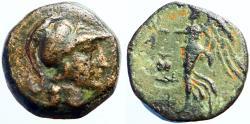 Ancient Coins - Pamphylia. Side AE15 Athena / Nike.