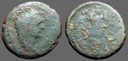 Ancient Coins - Domitian AE20 Trophy.  Judaea Capta
