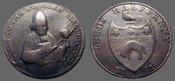 World Coins - Britain, Leeds  AE29  1/2 Penny 1791