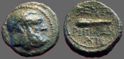 Ancient Coins - Sicily, Kentoripai AE14 Herakles / Club