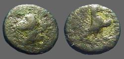 Ancient Coins - Greek AE10 Eagle/ Hd of Stag
