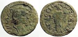 Ancient Coins - Julia Domna AE23 Pisidia, Antioch.  Genius w. branch & cornucopia
