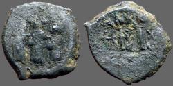 Ancient Coins - Heraclius & Heraclius Constantine, Empress Martina. AE23 Follis.